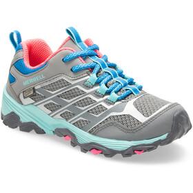 Merrell Moab FST Chaussures Basses Étanche Enfant, grey/turq/pink